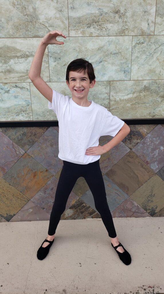 boy doing ballet