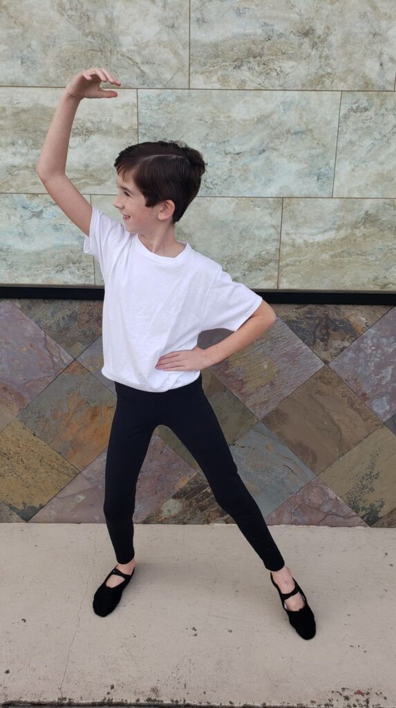 boy doing ballet poses