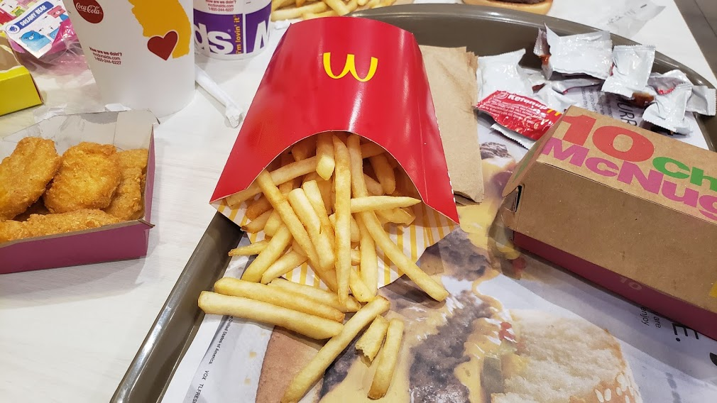 mcdonald's meal with fries