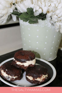 Looking for the perfect BBQ dessert? These delicious Brownie Ice Cream Sandwiches are the perfect summer dessert to serve your guests. Get the full tutorial at TheSaltyMamas.com #brownie #brownieicecreamsandwich #bbqdessert #bbqdessertrecipe
