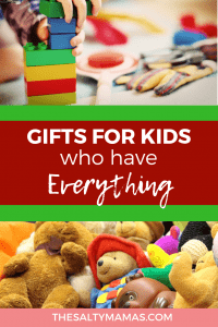 So, what DO you get the kid who already has everything? Unique gift ideas for kids at TheSaltyMamas.com. #giftideas #uniquekidsgifts #giftideasforkids