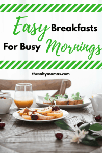 Looking for quick breakfast ideas for busy mornings? Try these school day breakfast ideas your kids are sure to love, from TheSaltyMamas.com. #schoolbreakfast #easybreakfastforkids #kidsbreakfastideas #quickbreakfastideas #breakfast #recipes #breakfastrecipes #kidsbreakfast