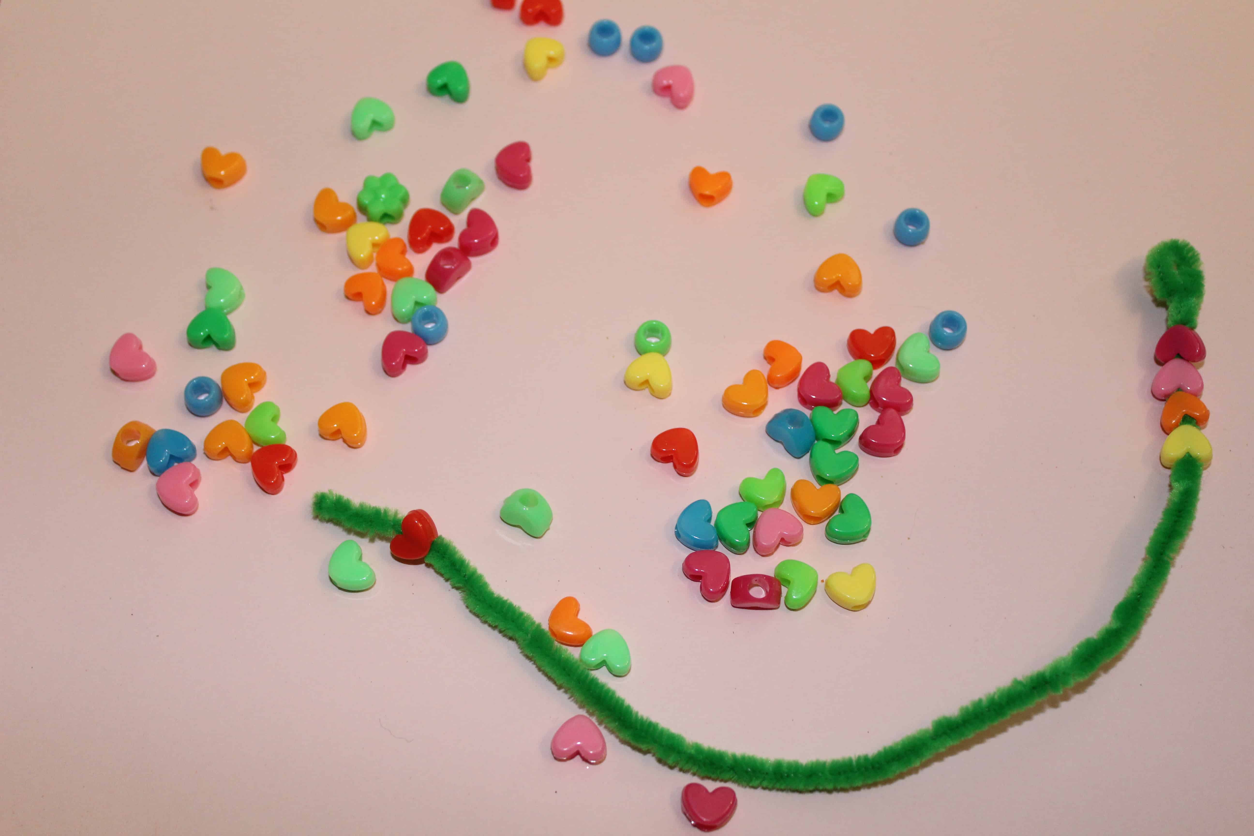 pony beads and pipe cleaner