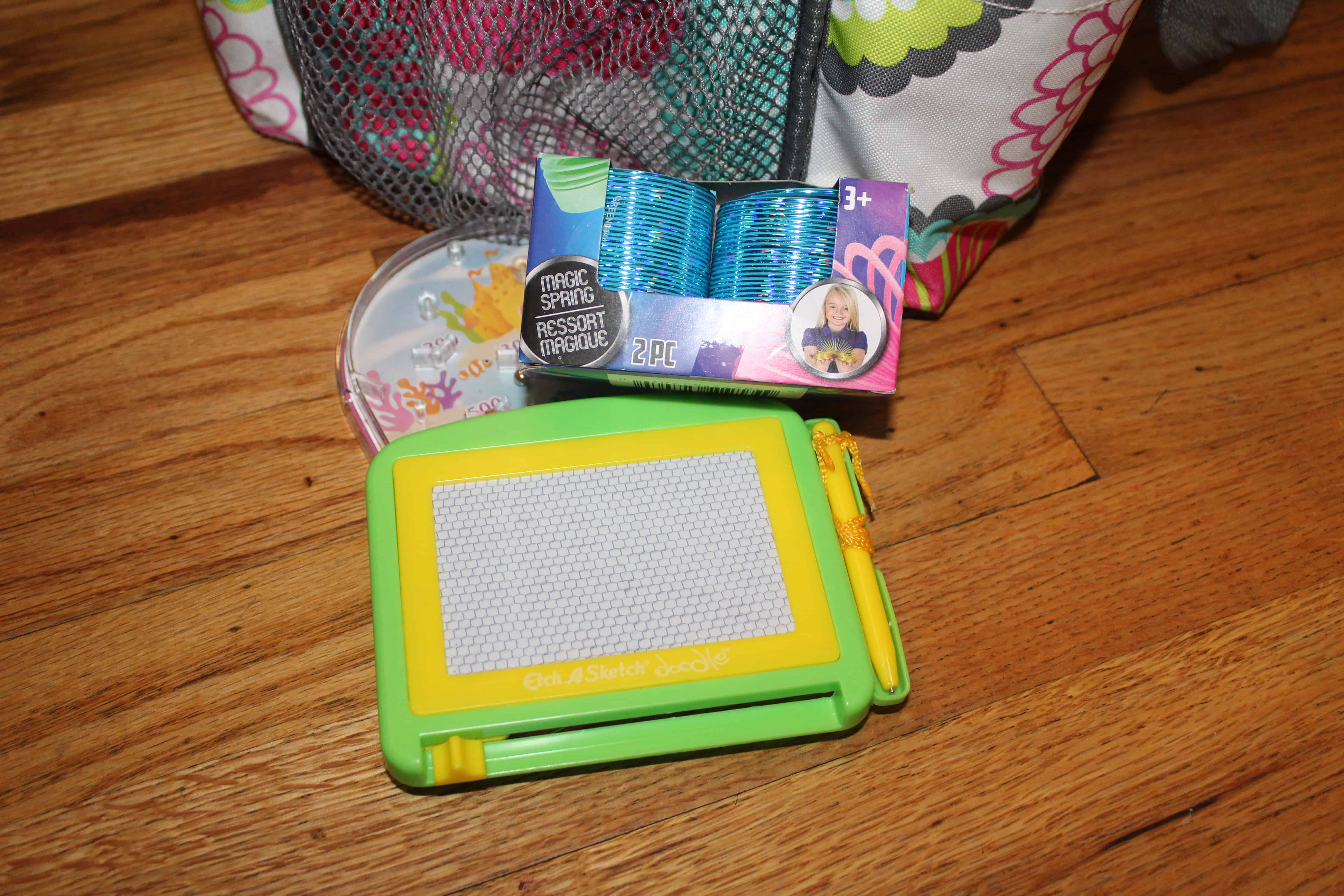 Magnadoodle board and slinkies which are perfect additions!