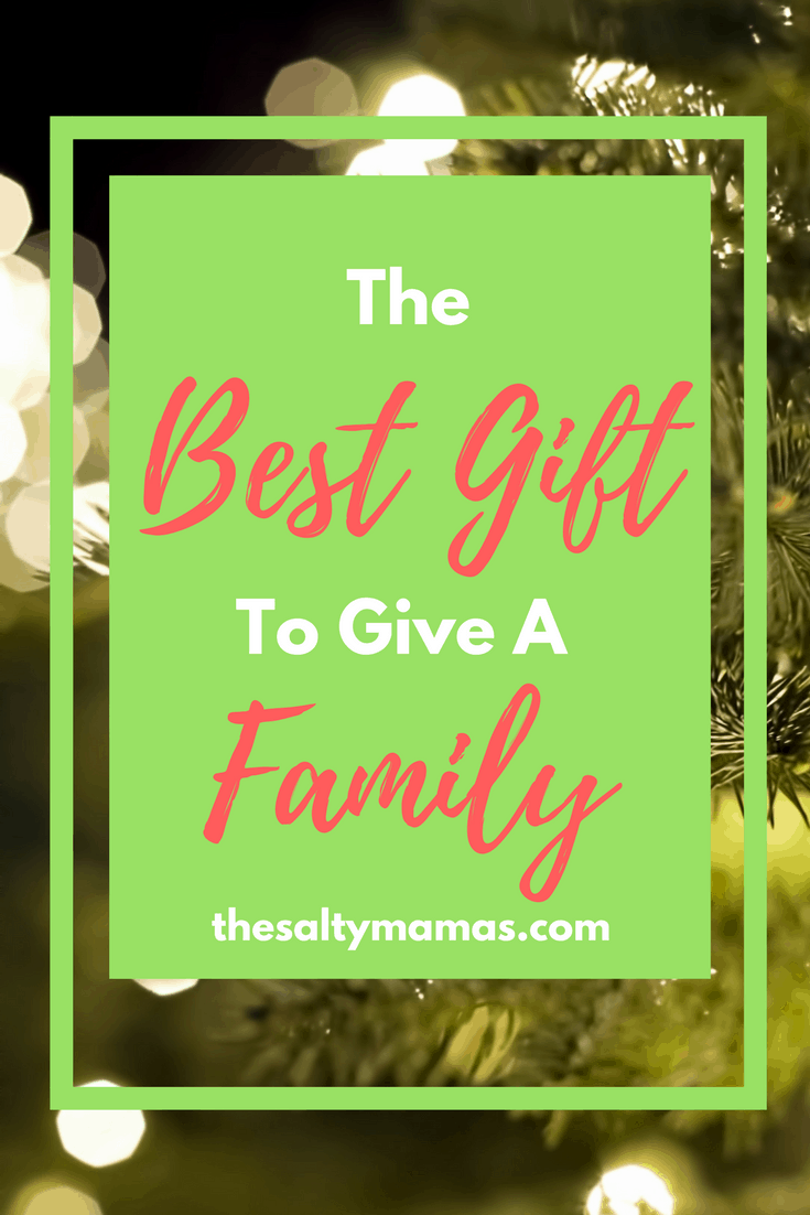 Looking for a gift for an entire family? This thoughtful gift will have you one and done. Read more at thesaltymamas.com. #familygift #christmasgift #giftideas