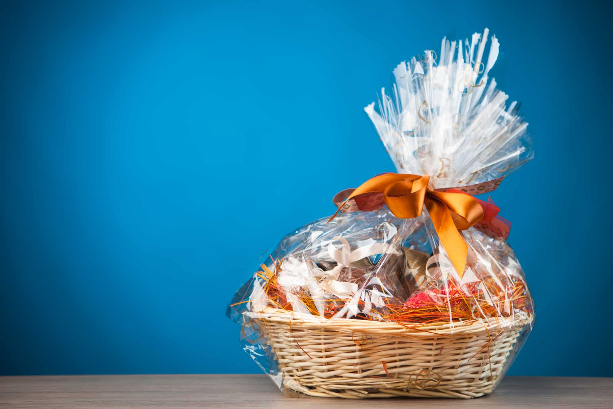 Gift basket for movie night