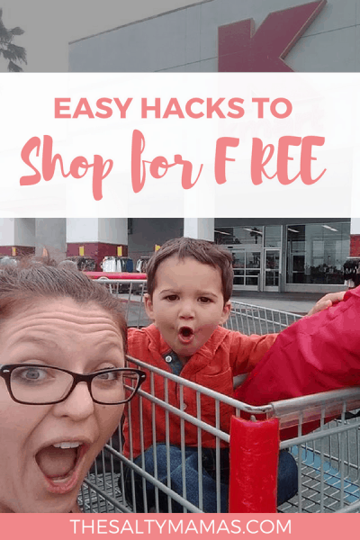 Short on cash, but high on needs? Check out this easy trick to shop for FREE from TheSaltyMamas.com. #sidehustle #shoppinghacks #shoppingtips #freegroceries