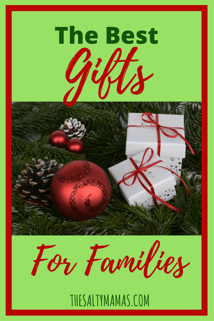 Looking for a gift the whole family will love? Check out the best gifts to give a family, from thesaltymamas.com. #familygift