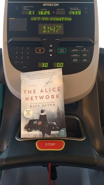 book on a treadmill