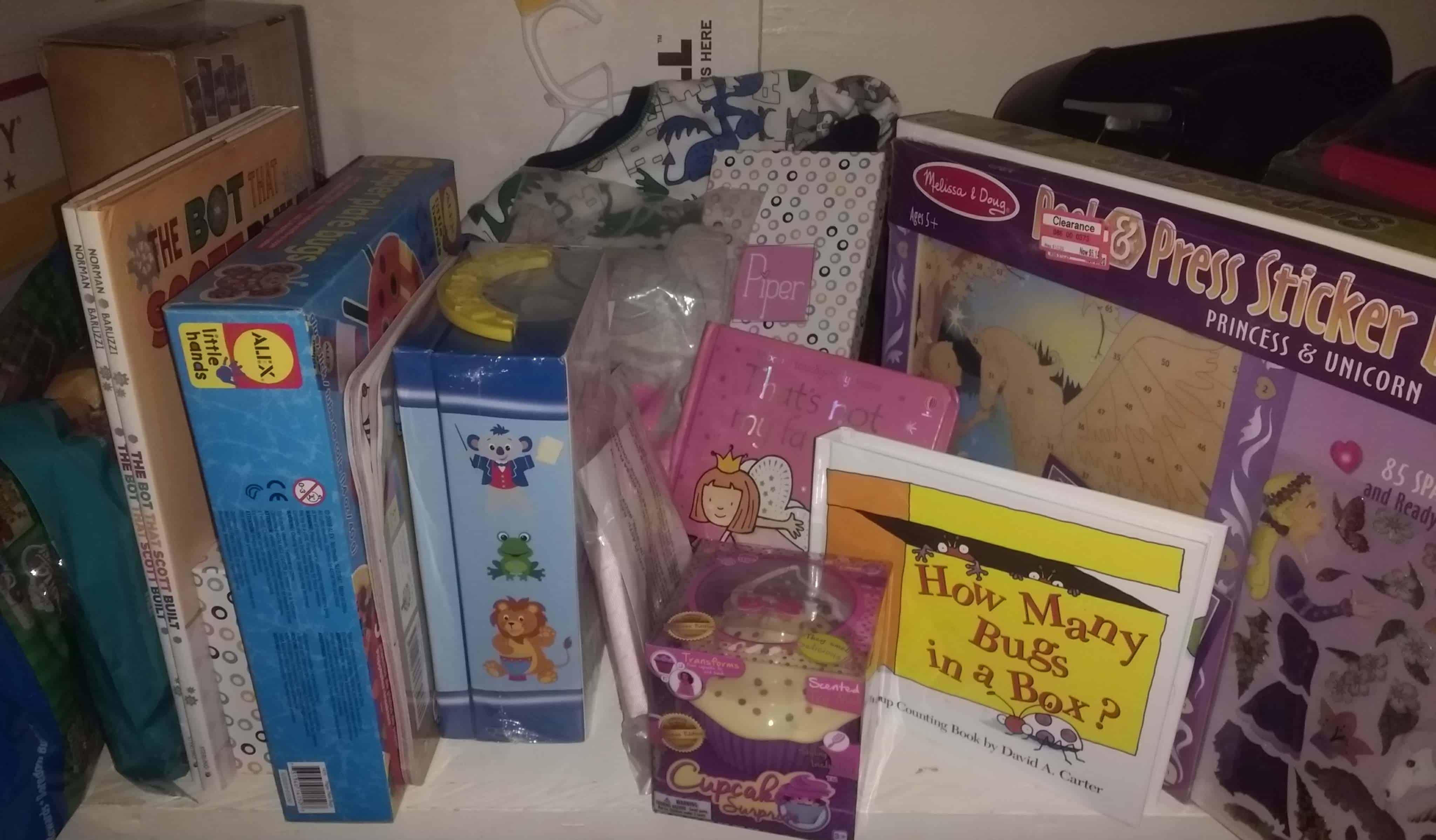 Create a gift closet stash to save BIG money on Birthday Gifts.