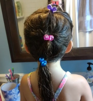 preschooler with tangled hair