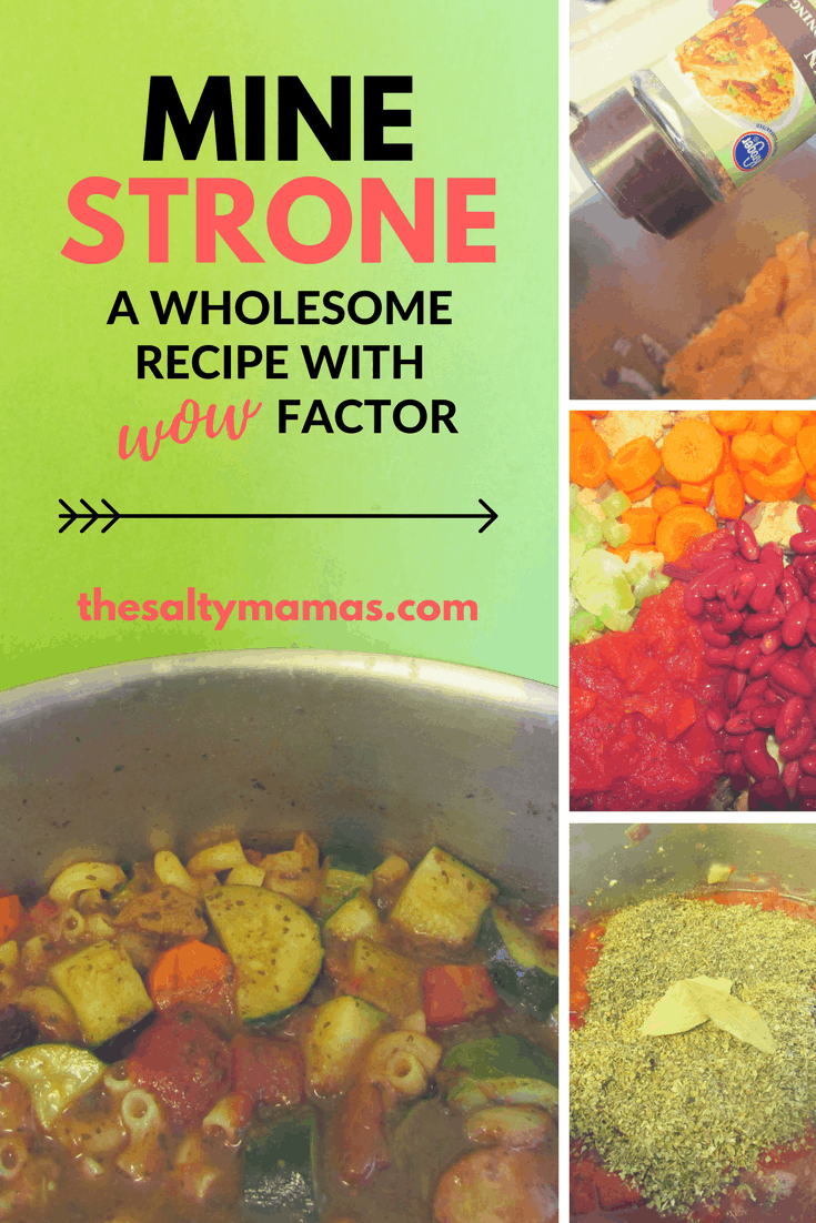 A recipe for Minestrone Soup that can go from weeknight to dinner party in a flash, from thesaltymamas.com. #minestronesoup #souprecipe #familymeals