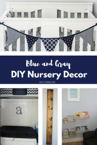 Creating a blue and gray nursery for your little one? Check out these DIY ideas to get the job done on a budget, from thesaltymamas.com.