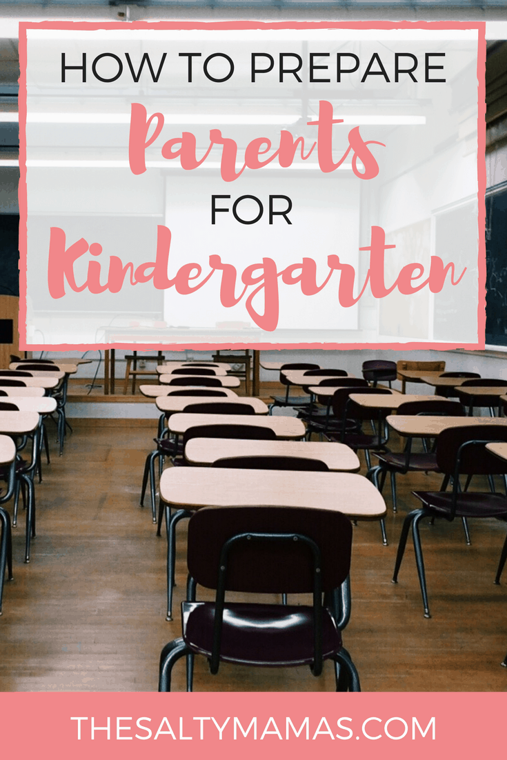 classroom; text overlay reads: how to prepare parents for kindergarten