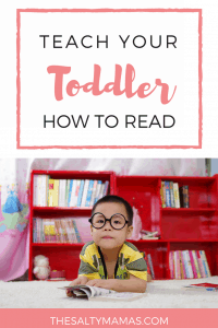 Trying to teach your child to read? Might we suggest that you teach them to be a READER instead. Find out easy tips to make it happen, from thesaltymamas.com. #learningtoread #teachingkidstoread