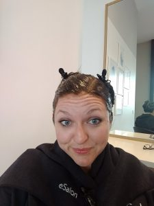 Looking for at home hair dye tips? Check out our eSalon review at thesaltymamas.com.