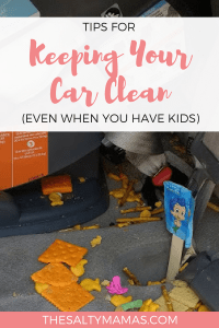 Keeping your car clean when you have kids is no easy feat. But it doesn't have to be THIS hard. Check out our hacks for keeping your car clean (even with kids!) at TheSaltyMamas.com.