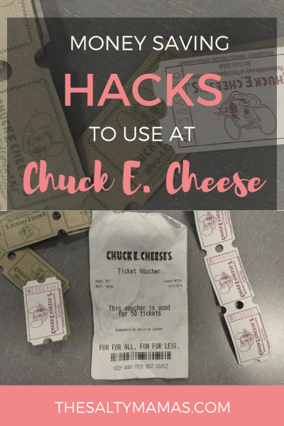 Kids LOVE Chuck E. Cheese- but parents? Yeah, usually not. Hacks to make your visit easier (and cheaper!) from TheSaltyMamas.com.