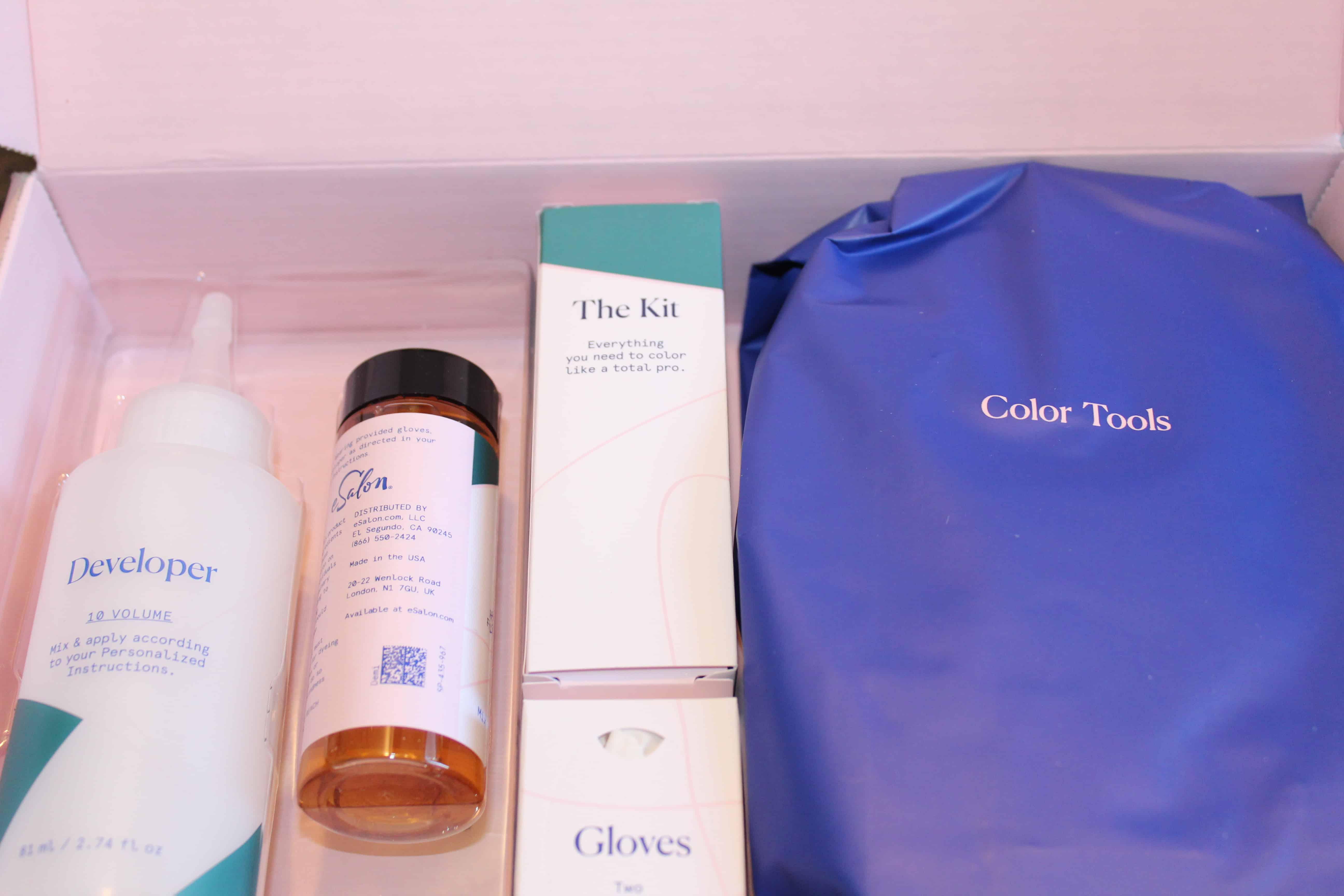 ESalon hair dye kit.