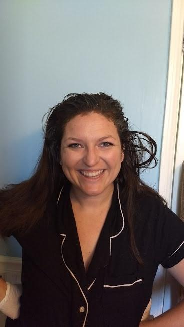Woman with hair dye