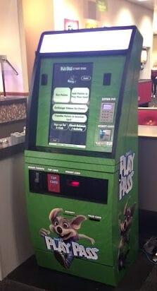 Play pass machine from Chuck E cheese.