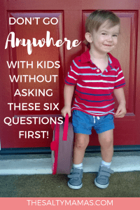Going to the park? Play place? Amusement park? STOP! Ask these six questions first to have a successful day! #goingplaceswithkids #dayoutwithkids #goingtothepark #goingtotheparkwithkids #amusementparkwithkids #disneylandwithkids #leavingthehousewithkids #checklist #domykidsneedsocks #howmuchdokidscost #momlife #dadlife #momlifehacks #momlifetips #dadlifehacks #dadlifetips #parenting #parentingtips #parentinghacks