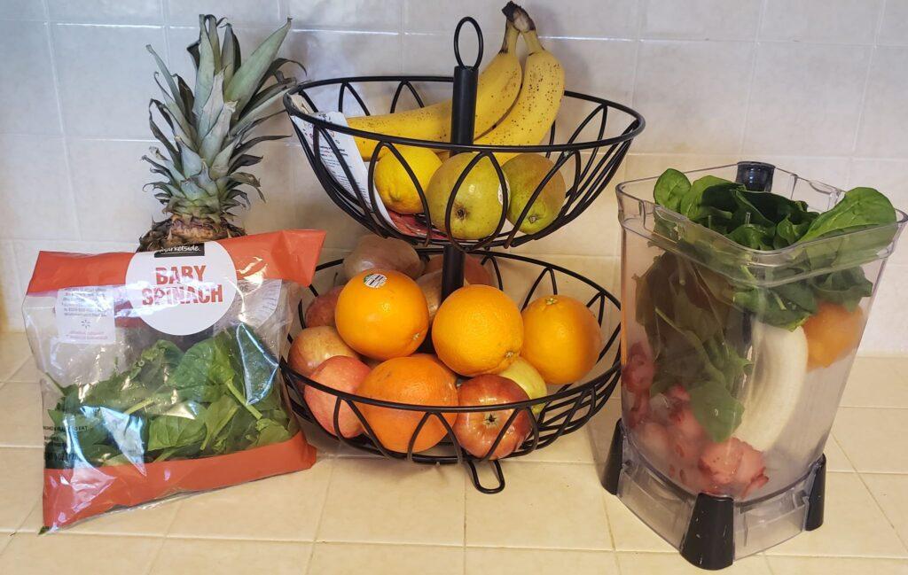 iron rich smoothie; fruit basket