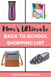Your ultimate checklist to everything Mama needs for the first day of school #backtoschool #backtoschoolshopping #firstdayofschool #kindergarteniscoming #backtoshoolshoppinglist #whatdoineedforbacktoschool #momsshoppinglist #bestdayplanner #happyplanner #passionplanner #bujo #momsbujo #bestplannerformoms #besttravelcoffeemug