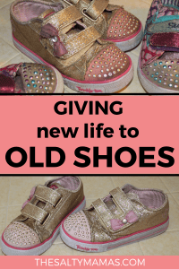 Trying to clean up your kids' shoes? If you've got hand-me-downs- or just dirty shoes!- check out this tutorial to get them looking brand new again, from TheSaltyMamas.com.