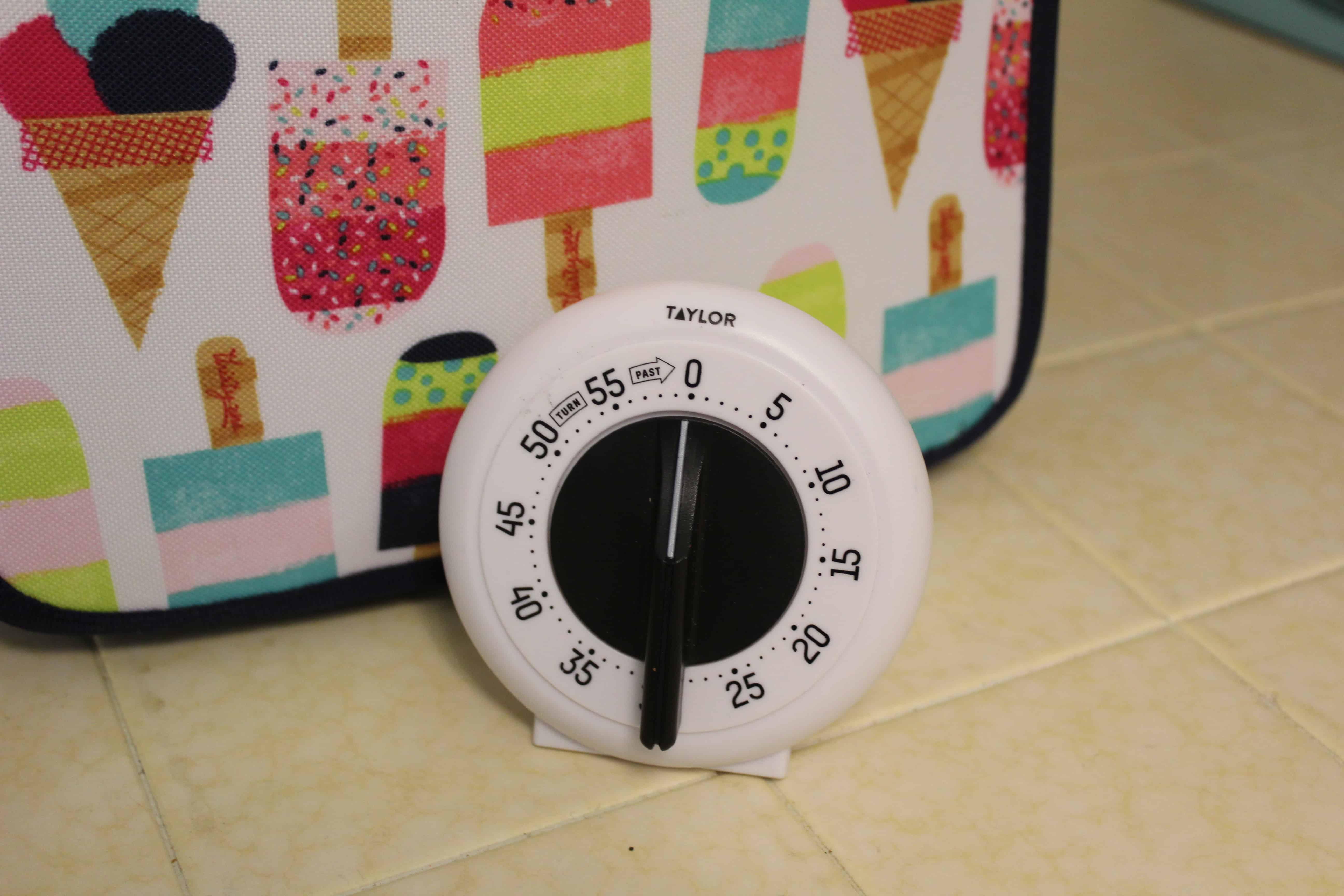 a kitchen timer for timing homework breaks