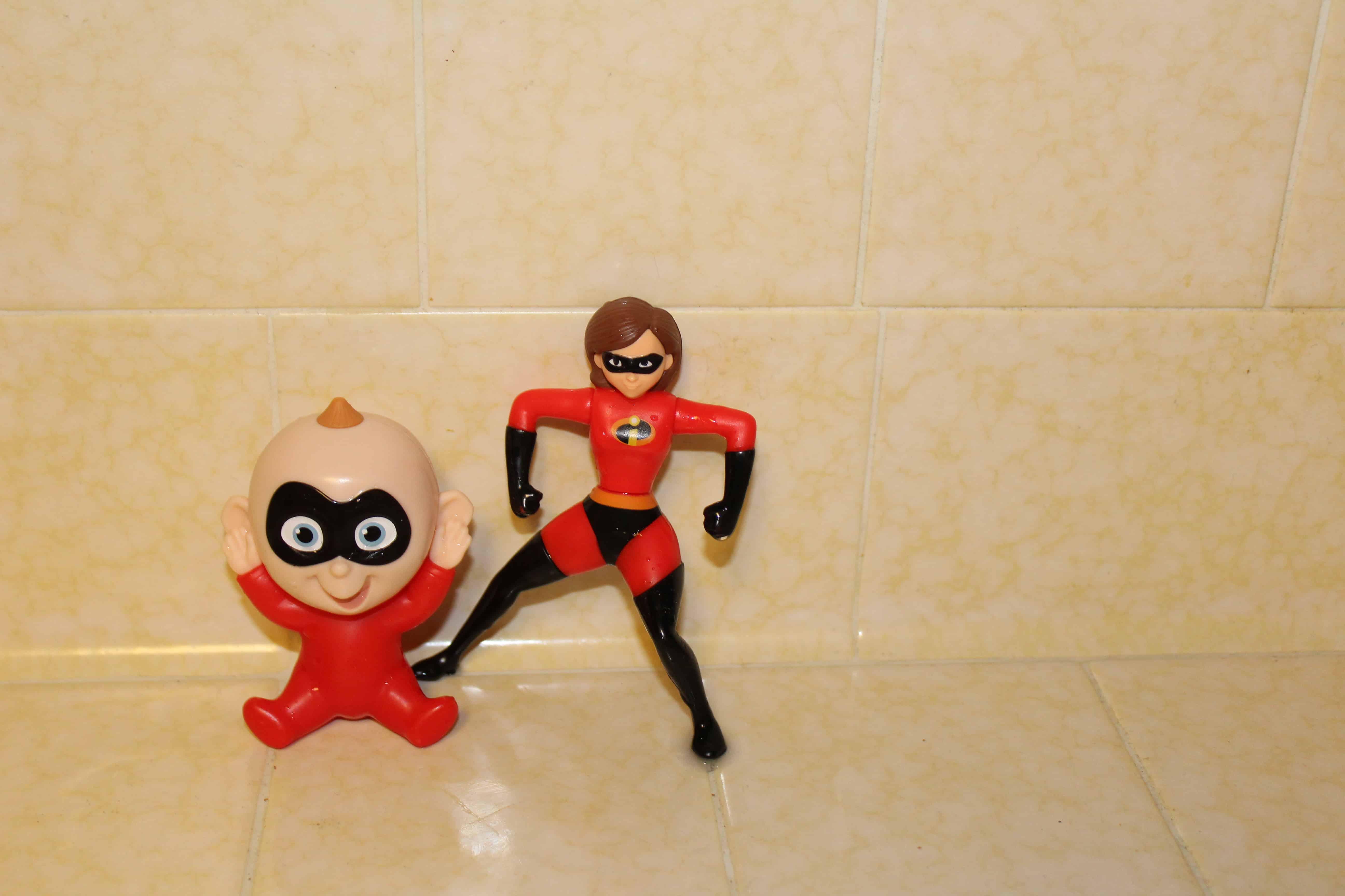 Baby Jack jack and Elastigirl figurines.