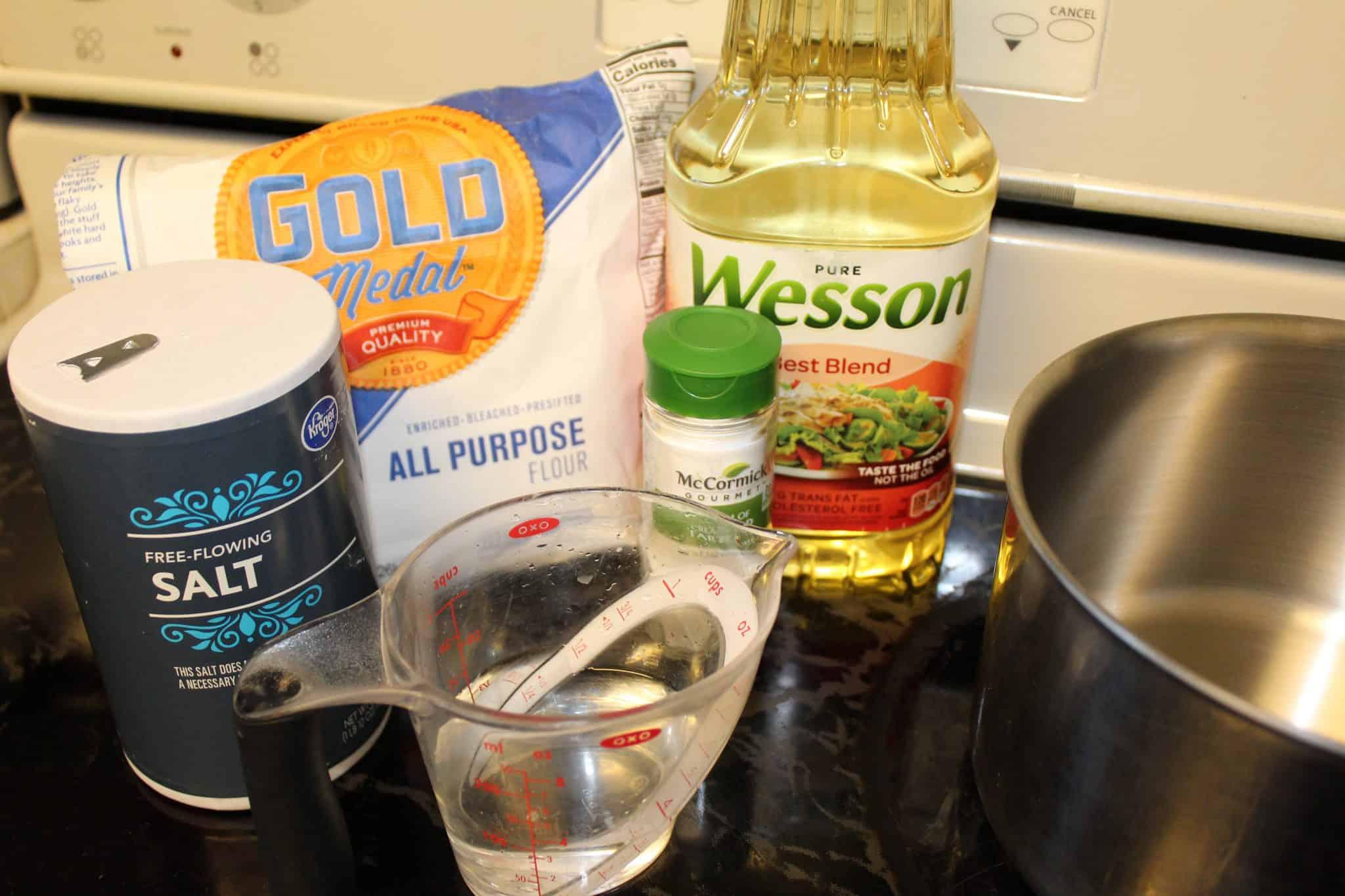 ingredients for homemade playdough recipe