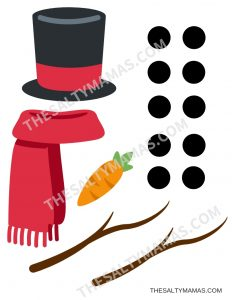Printable Snowman Painting Accessories