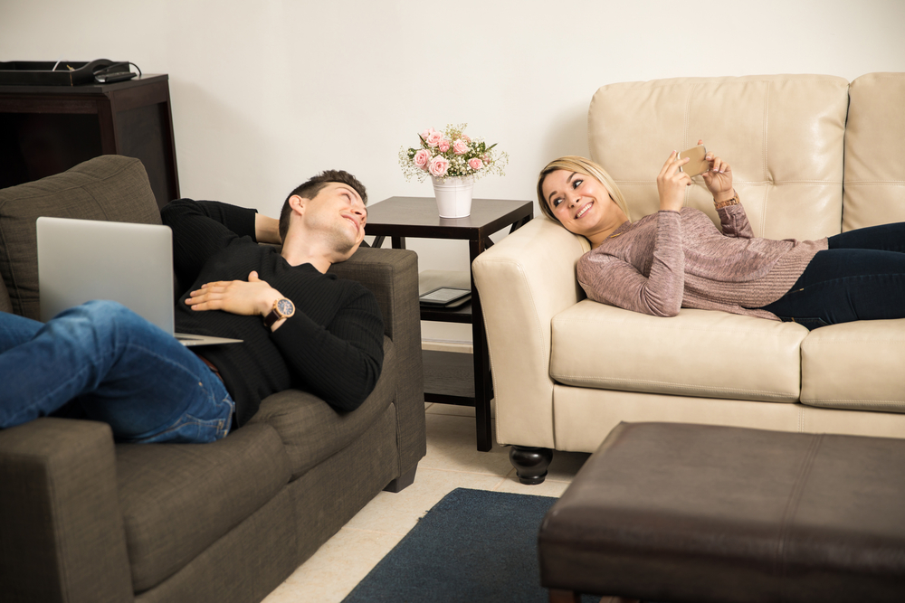 couple relaxing together