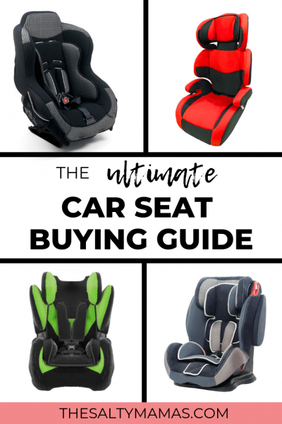 Need a carseat that's easy to install? Or maybe the best seat for grandma's car? How about a narrow car seat that can fit three across in a sedan? Whatever you're looking for, we've got a list of the best car seats for the job at TheSaltyMamas.com. #carseat #carseatsafety #bestcarseat #carseatbuyingguide #narrowcarseat