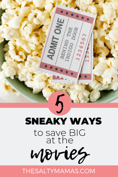 Everyone knows taking your family to the movies is crazy expensive. WIth these genius money saving hacks, it doesn't have to be. Find out how to save money at the movies on TheSaltyMamas.com. #savingmoney #moneysaving #moneysavinghacks #budgeting #cheapfamilyfun #familydateideas