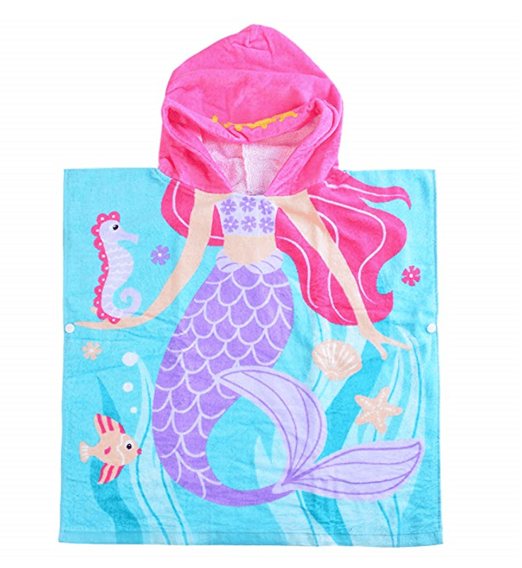 Mermaid hooded cozy towel