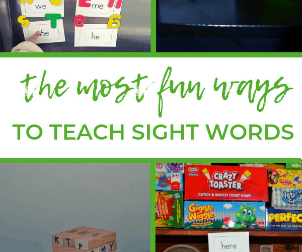 How to Teach Sight Words to Kids That Struggle