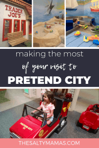 Planning a visit to Pretend City in Irvine? We've got tips to help make this Must-See Southern California children's museum at TheSaltyMamas.com. #pretendcity #irvine #thingstodoinirvine #thingstodoinsoutherncalifornia #toddlers #socalmoms #indoorplaygroundirvine #kidsmuseumirvine #childrensmuseumirvine