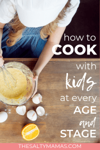 Frustrated trying to get dinner made? Bring your kids in the kitchen! With something for kids of every age, we've got you covered! #cooking #cookingwithkids #jrchef #cookingwithbabies #cookingwithtoddlers #cookingwithmybaby #cookingwithmytoddler #cookingwithpreschoolers #cookingwithmypreschooler