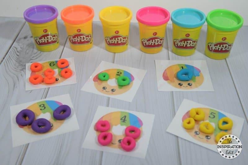 donut playdough mats