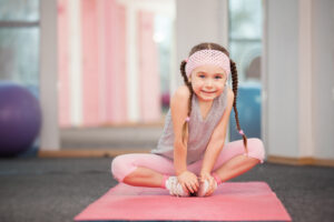 child doing yoga videos