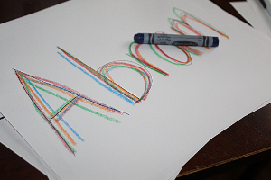 name written in many different colors