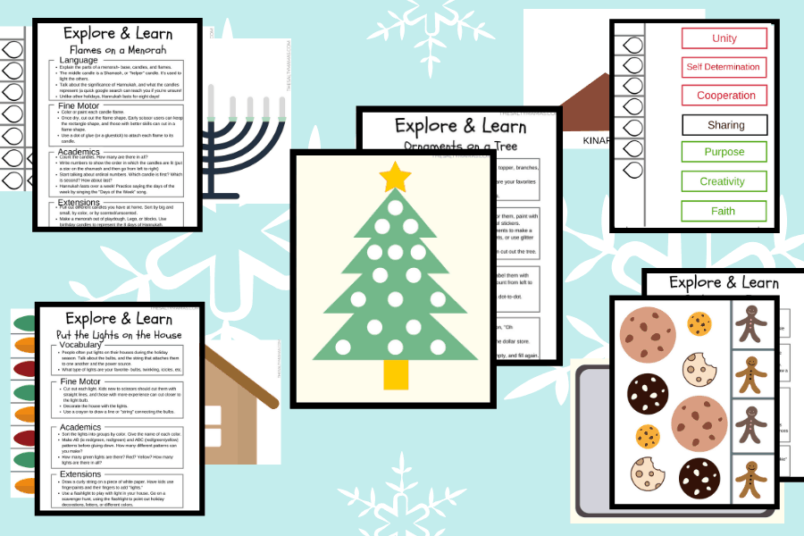 Christmas activity pack example.