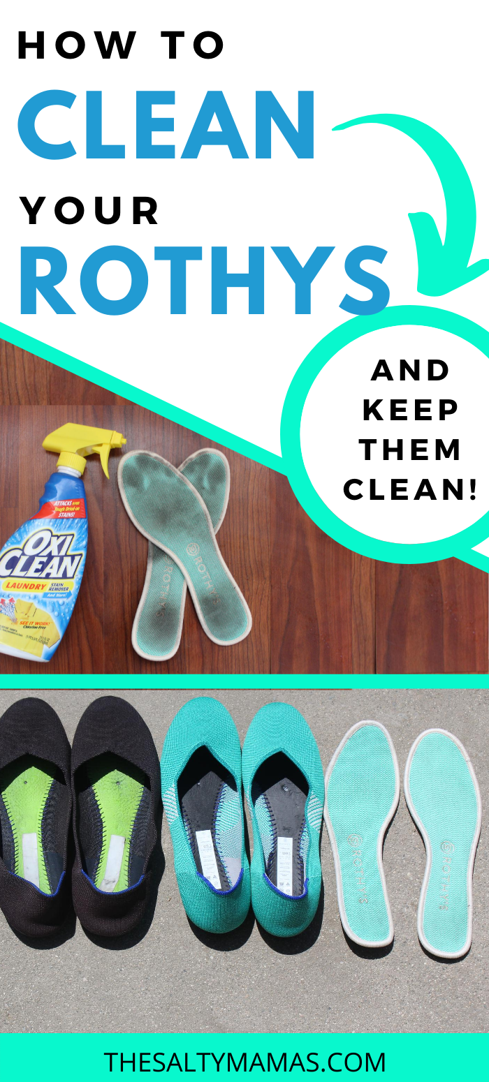 Rothys lined up; Text overlay: How to clean your Rothys