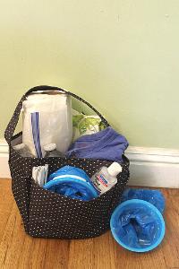 car sick kit in a tote bag