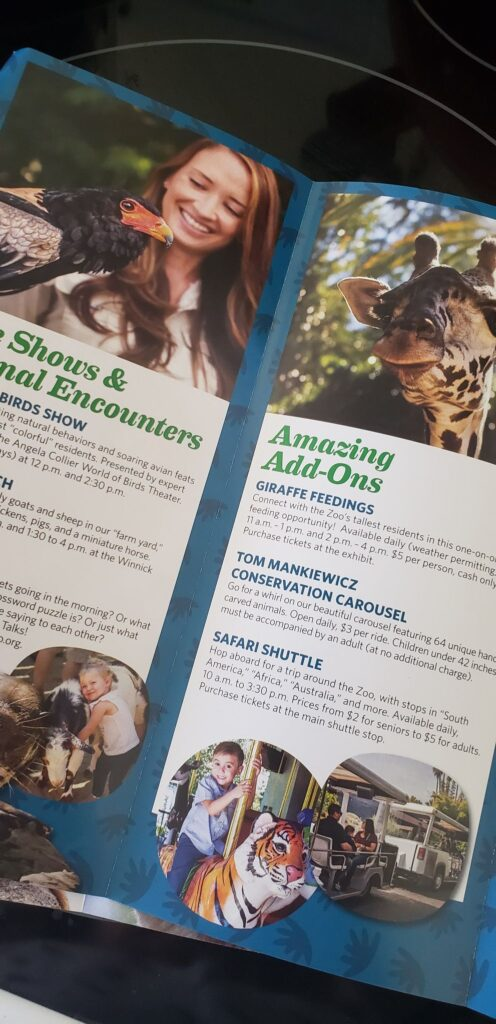 zoo travel pamphlet