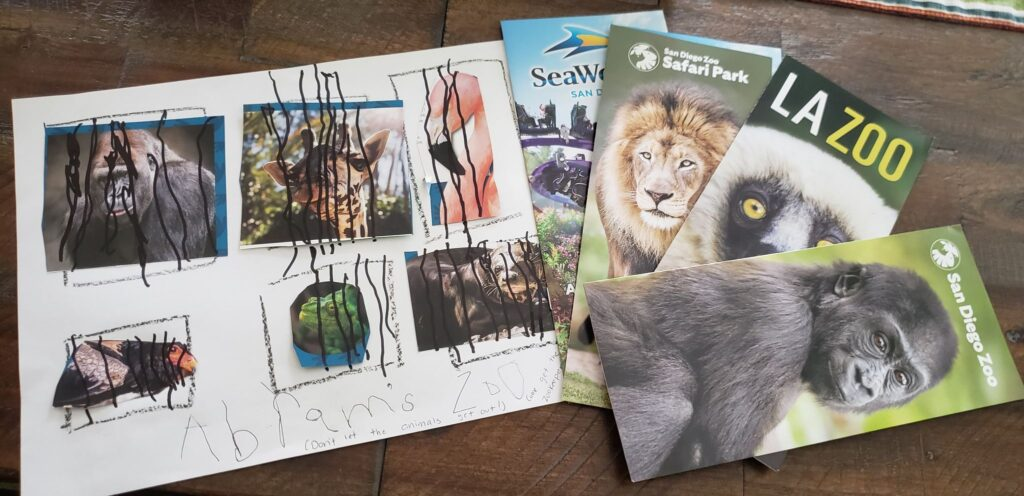 toddler zoo with brochures