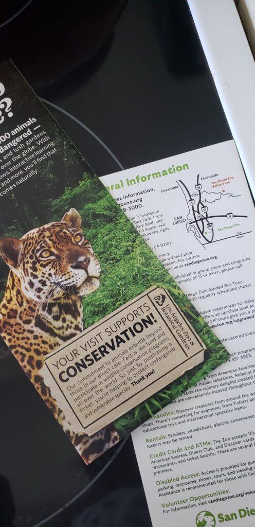 san diego zoo brochure