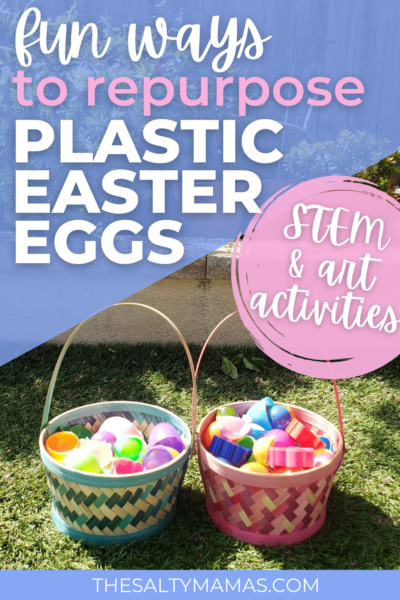 Repurpose plastic Easter eggs with these fun STEM and art activities for toddlers
